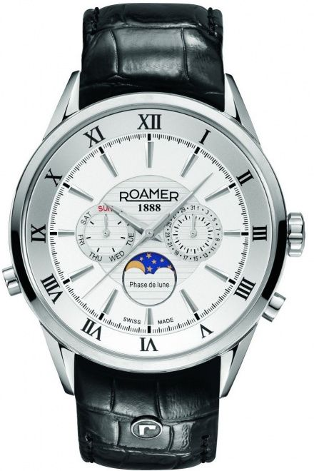 Roamer 508821 41 13 05 Zegarek Szwajcarski Moon Phase Superior