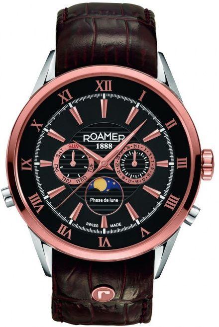 Roamer 508821 49 53 05 Zegarek Szwajcarski Moon Phase Superior