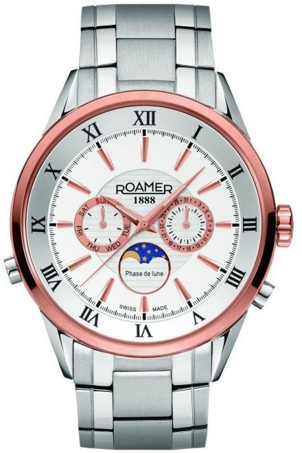 Roamer 508821 49 13 50 Zegarek Szwajcarski Moon Phase Superior