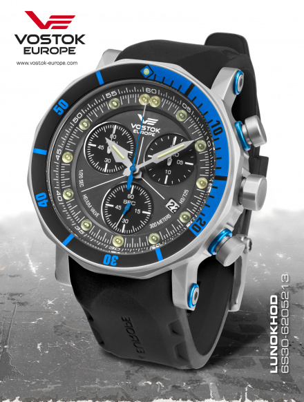 Zegarek Męski Vostok Europe Lunokhod-2 6S30/6205213 Chrono Line