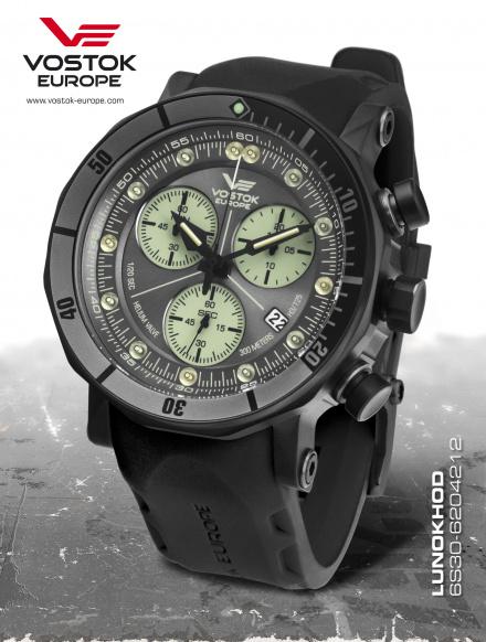 Zegarek Męski Vostok Europe Lunokhod-2 6S30/6204212 Chrono Line