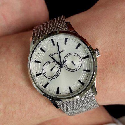 Zegarek Męski Adriatica na bransolecie A1100.51B3QF - Multifunction Swiss Made