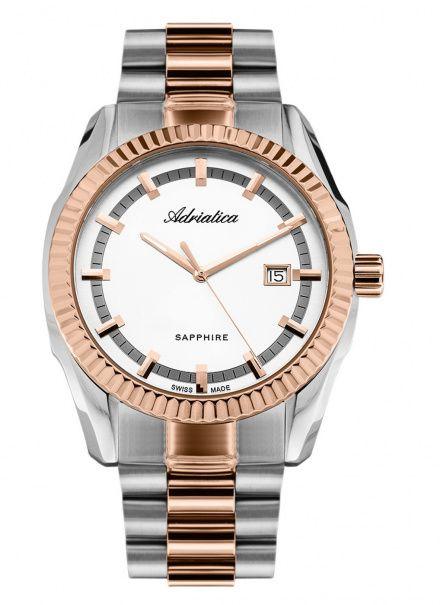 Zegarek Męski Adriatica na bransolecie A8210.R113Q - Zegarek Kwarcowy Swiss Made