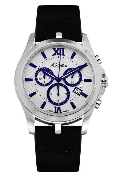 Zegarek Męski Adriatica A8212.52B3CH - Chronograf Swiss Made