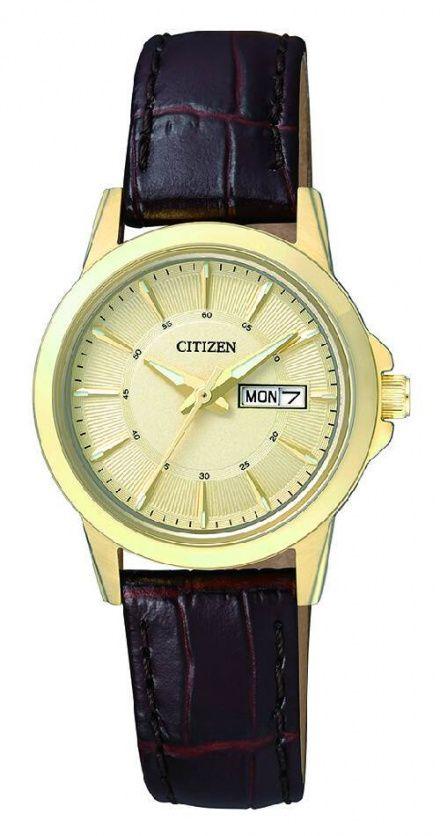 Citizen EQ0603-08PE Zegarek Damski na pasku Citizen Classic