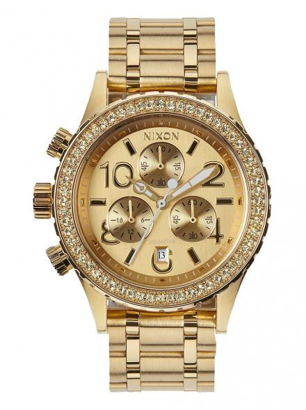 Zegarek Nixon 38-20 Chrono All Gold Crystal - Nixon A4041520