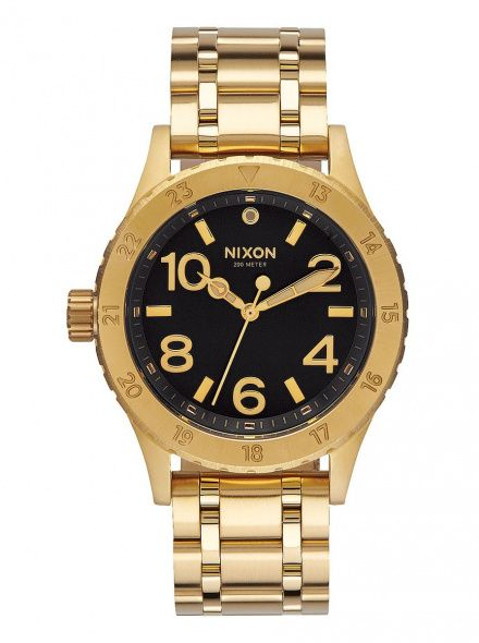 Zegarek Nixon 38-20 All Gold Black Sunray - Nixon A4102042
