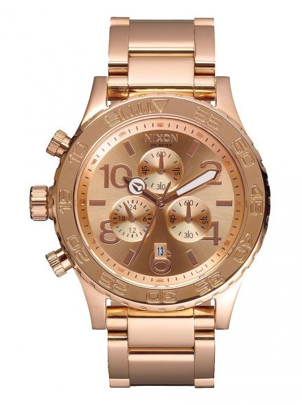 Zegarek Nixon 42-20 Chrono All Rose Gold - Nixon A0371897