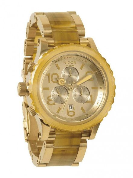 Zegarek Nixon 42-20 Chrono Champagne Gold Amber - Nixon A0371423