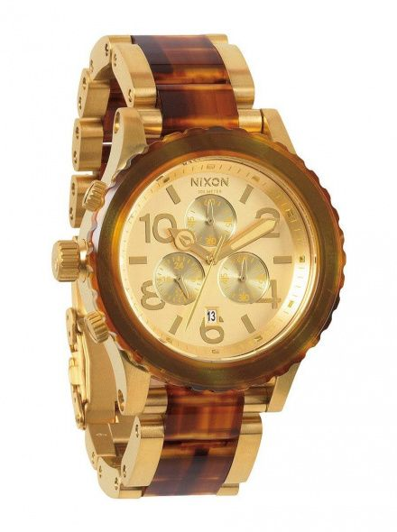 Zegarek Nixon 42-20 Chrono Gold Molasses - Nixon A0371424
