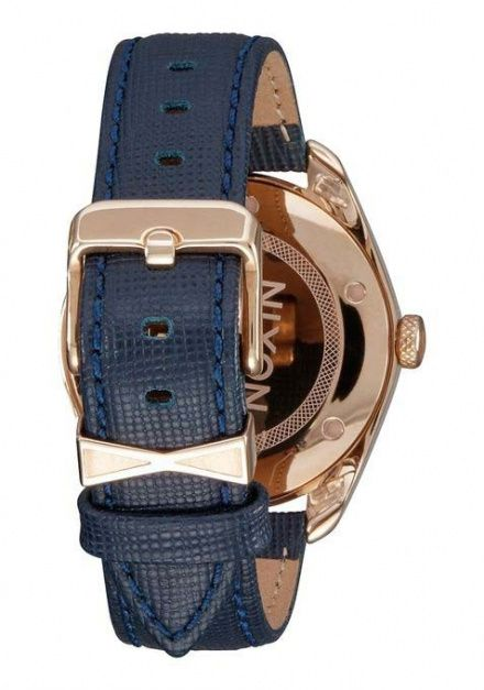 Zegarek Nixon Bullet Leather Rose Gold Navy - Nixon A4732160