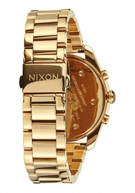 Zegarek Nixon Bullet Chrono 36 All Gold Black - Nixon A9491510