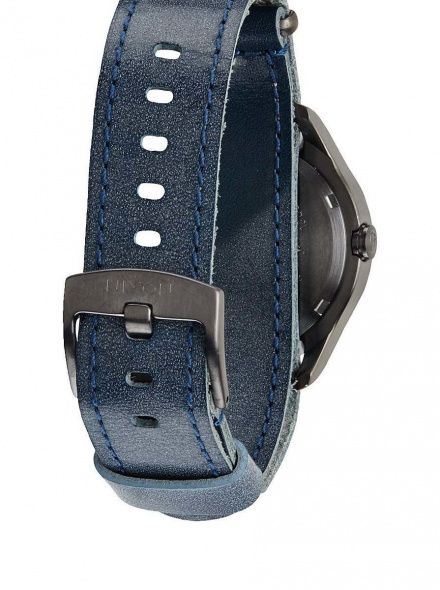 Zegarek Nixon Mod Leather Gunmetal Navy - Nixon A4281893