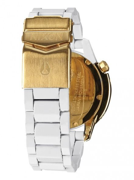 Zegarek Nixon Monarch All White Gold - Nixon A2881035