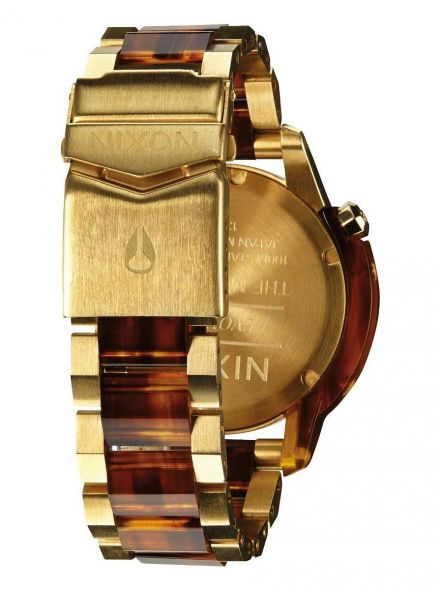 Zegarek Nixon Monarch Gold Molasses - Nixon A2881424