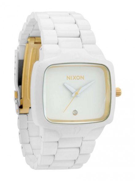 Zegarek Nixon Player All White Gold - Nixon A1402035