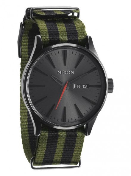 Zegarek Nixon Sentry Surplus Black Nylon - Nixon A0272151