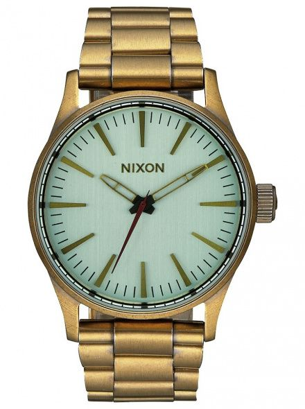 Zegarek Nixon Sentry 38 Ss All Brass Green Crystal Nixon A4502230