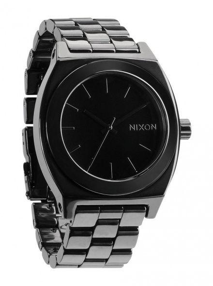 Zegarek Nixon Ceramic Time Teller Black - Nixon A2501000