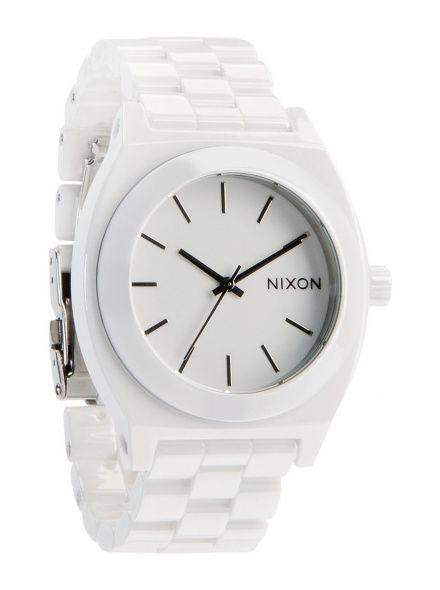 Zegarek Nixon Ceramic Time Teller White - Nixon A2501100