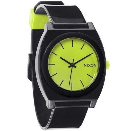 Zegarek Nixon Time Teller P Black Lime - Nixon A1191985
