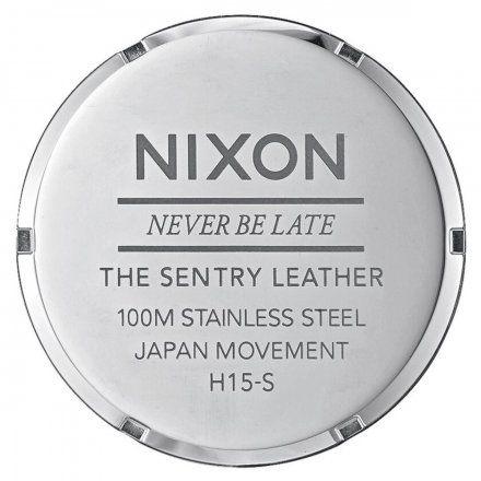 Zegarek Nixon Sentry Leather Blue Brown - Nixon A105-1524