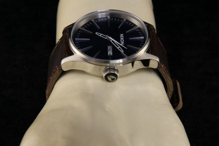 Zegarek Nixon Sentry Leather Blue Brown - Nixon A1051524