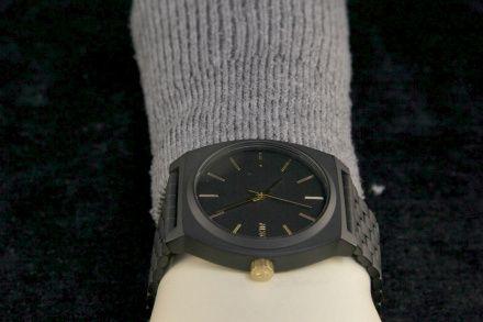 Zegarek Nixon Time Teller Matte Black Gold - Nixon A0452041