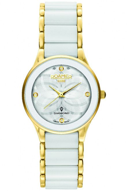 Roamer 677981 48 20 60 Zegarek Szwajcarski Ceraline Saphira Diamond