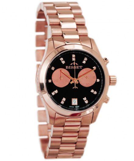 Bisset BSBE22RIBR05AX Zegarek Szwajcarski Marki Bisset