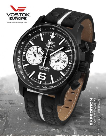 Zegarek Męski Vostok Europe Expedition 6S21/5954199 Chrono Line