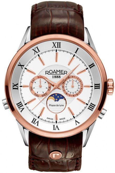 Roamer 508821 49 13 05 Zegarek Szwajcarski Moon Phase Superior
