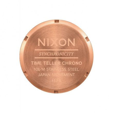 Zegarek Nixon Time Teller Chrono All Rose Gold Gunmetal Nixon A9722046