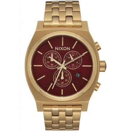 Zegarek Nixon Time Teller Chrono All Gold Deep Burgundy Nixon A9722397