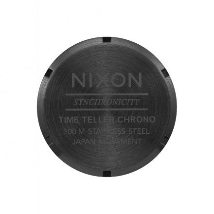 Zegarek Nixon Time Teller Chrono All Black Green Sunray Nixon A9722399