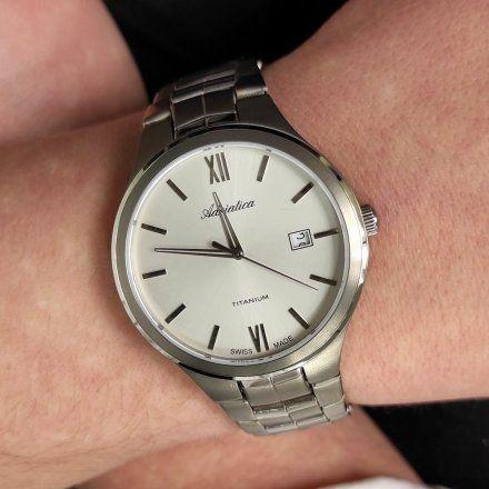 Zegarek Męski Adriatica na bransolecie A8265.4163Q - Zegarek Kwarcowy Swiss Made