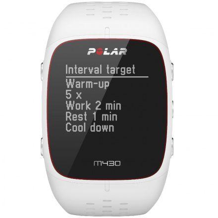 POLAR M430 (M/L) Biały zegarek do biegania z GPS
