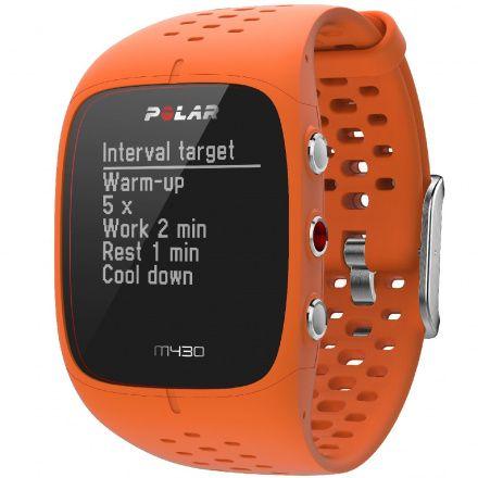 POLAR M430 (M/L) Pomarańczowy zegarek do biegania z GPS