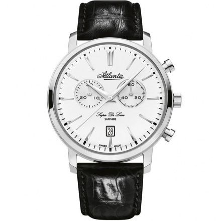 Zegarek Męski Atlantic Super De Luxe Chronograph 64451.41.21