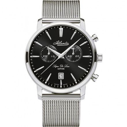 Zegarek Męski Atlantic Super De Luxe Chronograph 64456.41.61