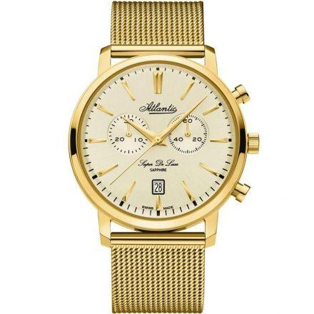 Zegarek Męski Atlantic Super De Luxe Chronograph 64456.45.31
