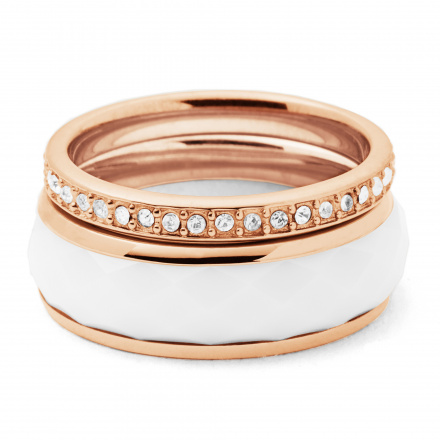Biżuteria Fossil - Pierścionek JF01123791503 160 Rozmiar 10 - SALE -30%