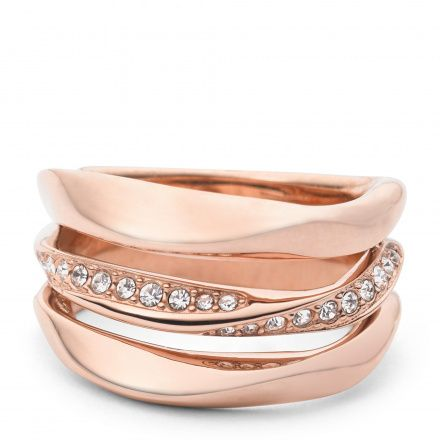 Biżuteria Fossil - Pierścionek JF01321791508 180 Rozmiar 17