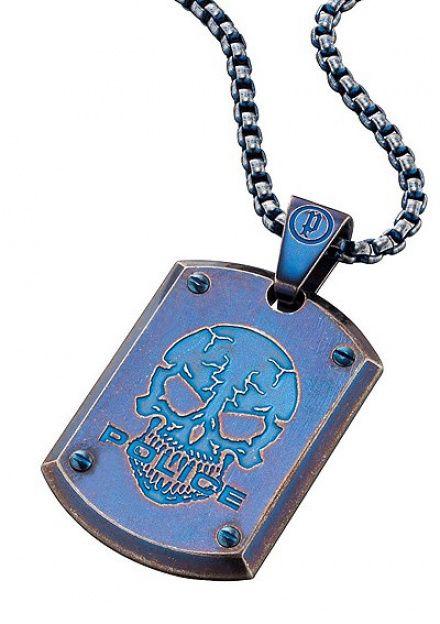 Biżuteria Police - PJ.25607PSEBL-SKULL - Naszyjnik PROWLER PJ25607