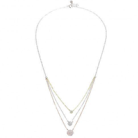 51cf72105b Biżuteria damska ze srebra SAXO Naszyjnik srebrny pozłacany SŁ.040.01