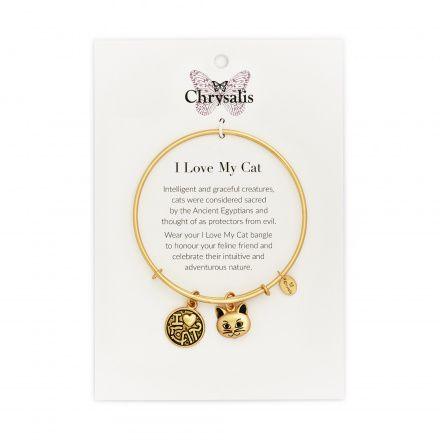 Biżuteria Chrysalis Bransoletka Friends & Family I Love Cat CRBT0712GP