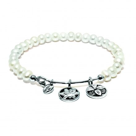 Chrysalis Bransoletka Guardian White Shell Pearl Blossom CRBH0010WSP