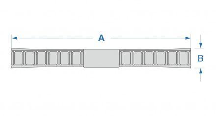P44653 Bransoleta Stalowa Srebrna Do Zegarka T44653
