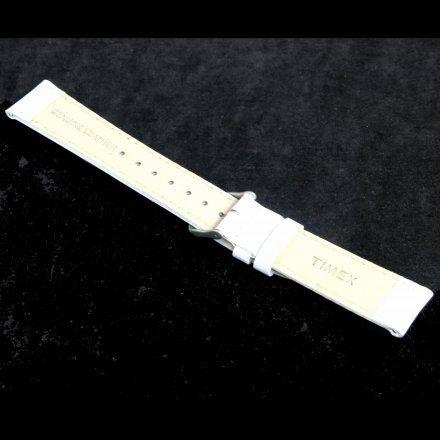P2N345 Pasek Timex 20 Skórzany Biały Do Zegarka T2N345