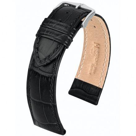 Czarny pasek skórzany 24 mm HIRSCH Duke 01028050-2-24 (L)
